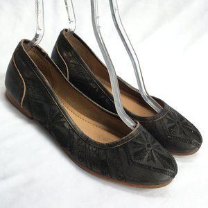 Coolway Kendal ballet flats black leather shoes 10